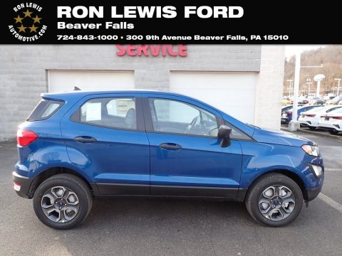 Lightning Blue Metallic Ford EcoSport S 4WD.  Click to enlarge.