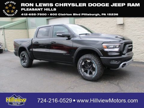 Diamond Black Crystal Pearl Ram 1500 Rebel Crew Cab 4x4.  Click to enlarge.