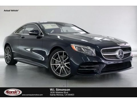 Lunar Blue Metallic Mercedes-Benz S 560 4Matic Coupe.  Click to enlarge.