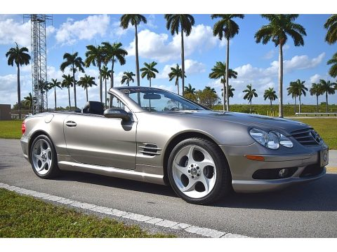 Pewter Silver Metallic Mercedes-Benz SL 500 Roadster.  Click to enlarge.