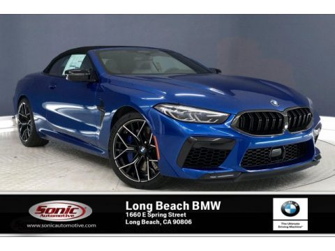 Sonic Speed Blue BMW M8 Convertible.  Click to enlarge.