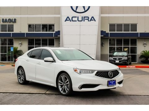 Platinum White Pearl Acura TLX V6 Technology Sedan.  Click to enlarge.