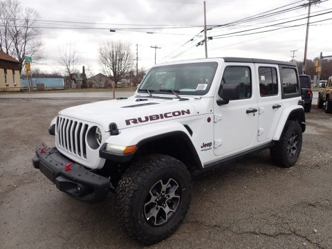 Bright White Jeep Wrangler Unlimited Rubicon 4x4.  Click to enlarge.