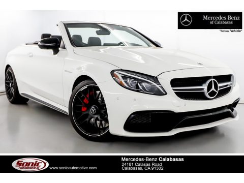 Polar White Mercedes-Benz C 63 S AMG Cabriolet.  Click to enlarge.
