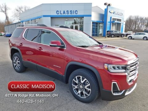 Red Quartz Tintcoat GMC Acadia SLE AWD.  Click to enlarge.