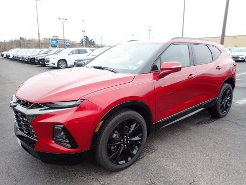 Cajun Red Tintcoat Chevrolet Blazer RS AWD.  Click to enlarge.