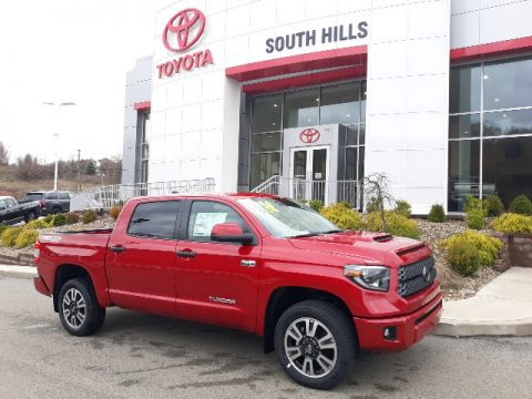 Barcelona Red Metallic Toyota Tundra TRD Sport CrewMax 4x4.  Click to enlarge.