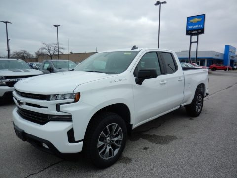 Summit White Chevrolet Silverado 1500 RST Double Cab 4x4.  Click to enlarge.