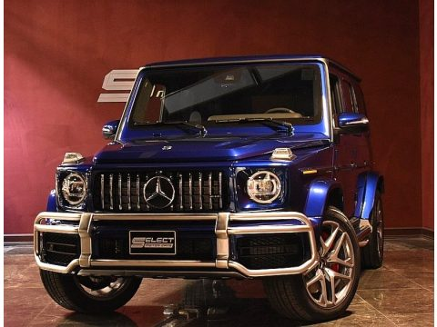 Brilliant Blue Metallic Mercedes-Benz G 63 AMG.  Click to enlarge.