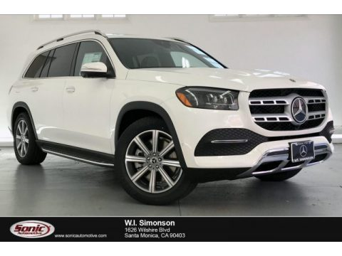 Polar White Mercedes-Benz GLS 450 4Matic.  Click to enlarge.