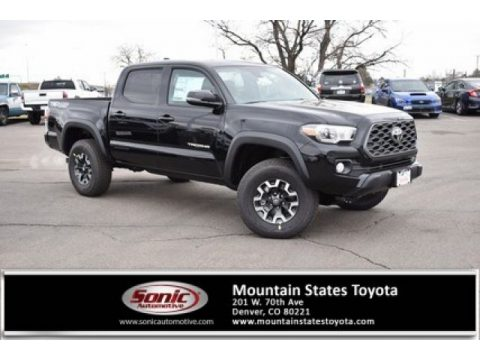 Midnight Black Metallic Toyota Tacoma TRD Off Road Double Cab 4x4.  Click to enlarge.