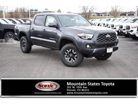 Magnetic Gray Metallic Toyota Tacoma TRD Off Road Double Cab 4x4.  Click to enlarge.