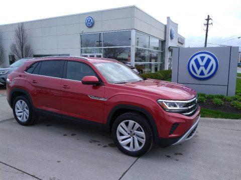 Aurora Red Chroma Metallic Volkswagen Atlas Cross Sport SE Technology 4Motion.  Click to enlarge.