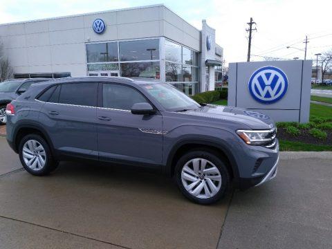 Pure Gray Volkswagen Atlas Cross Sport SE Technology 4Motion.  Click to enlarge.