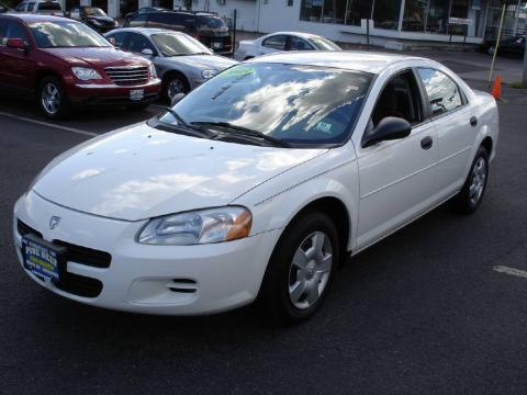 Stone White 2003 Dodge Stratus SE Sedan with Dark Slate Gray interior Stone