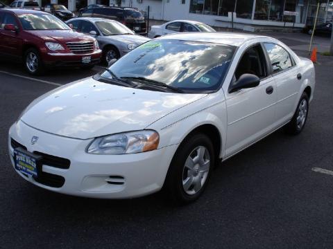 Stone White 2003 Dodge Stratus SE Sedan with Dark Slate Gray interior Stone