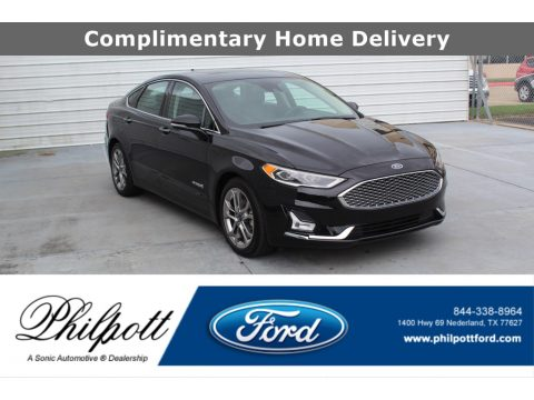 Agate Black Ford Fusion Hybrid Titanium.  Click to enlarge.