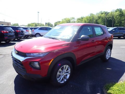 Scarlet Red Metallic Chevrolet Trailblazer LS AWD.  Click to enlarge.