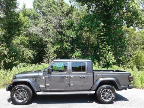 Granite Crystal Metallic Jeep Gladiator Overland 4x4.  Click to enlarge.