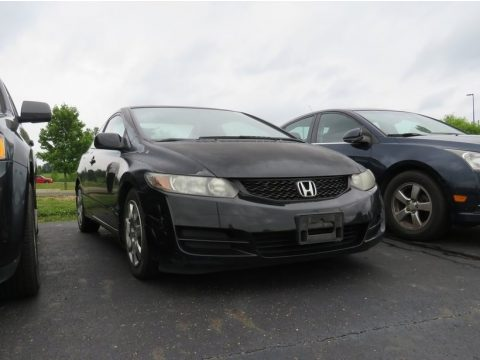 Crystal Black Pearl Honda Civic LX Coupe.  Click to enlarge.