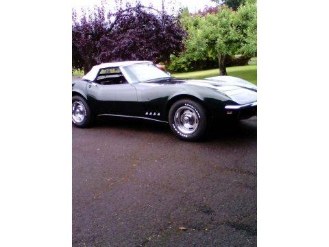 British Green Chevrolet Corvette Convertible.  Click to enlarge.