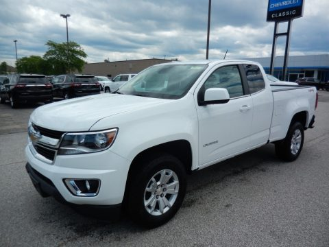 Summit White Chevrolet Colorado LT Extended Cab 4x4.  Click to enlarge.