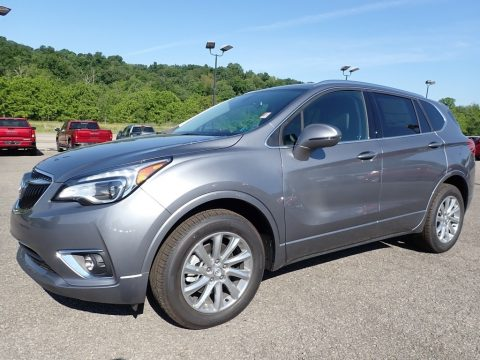 Satin Steel Metallic Buick Envision Essence AWD.  Click to enlarge.