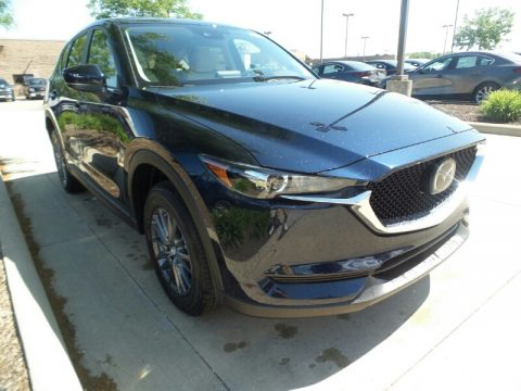 Deep Crystal Blue Mica Mazda CX-5 Touring AWD.  Click to enlarge.