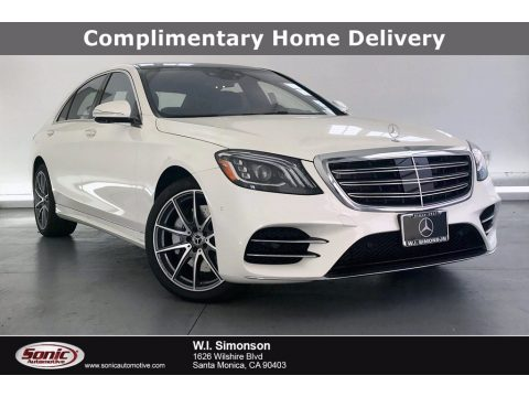 designo Diamond White Metallic Mercedes-Benz S 560 Sedan.  Click to enlarge.