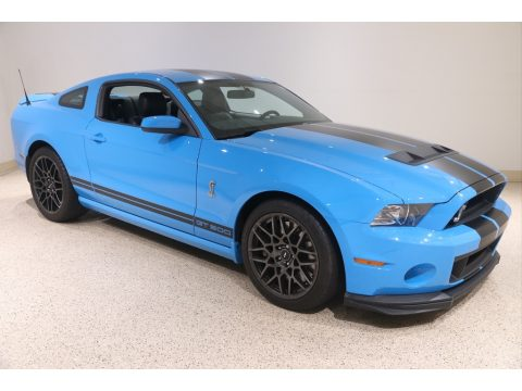 Grabber Blue Ford Mustang Shelby GT500 SVT Performance Package Coupe.  Click to enlarge.
