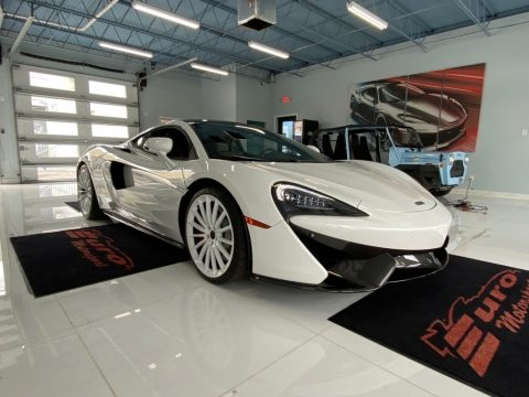 Silica White McLaren 570GT Coupe.  Click to enlarge.