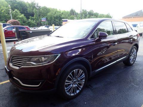 Burgundy Velvet Lincoln MKX Reserve AWD.  Click to enlarge.