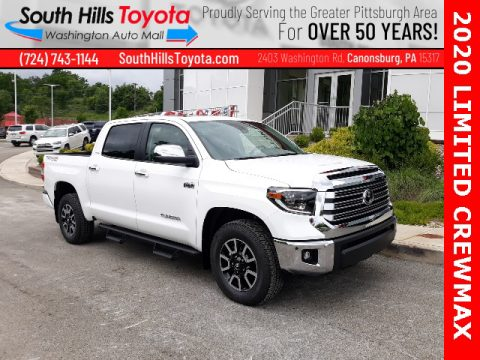 Super White Toyota Tundra Limited CrewMax 4x4.  Click to enlarge.