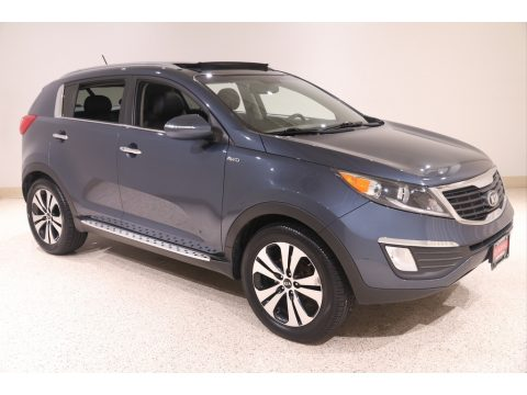 Twilight Blue Kia Sportage EX AWD.  Click to enlarge.