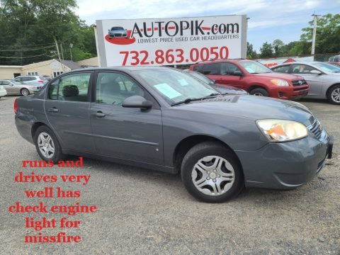 Dark Gray Metallic Chevrolet Malibu LS Sedan.  Click to enlarge.