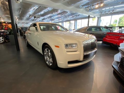 English White Rolls-Royce Ghost .  Click to enlarge.