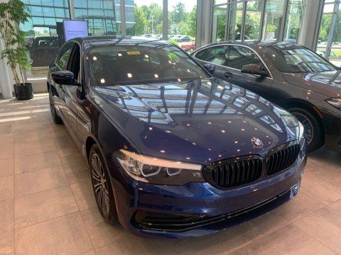 Mediterranean Blue Metallic BMW 5 Series 530i xDrive Sedan.  Click to enlarge.