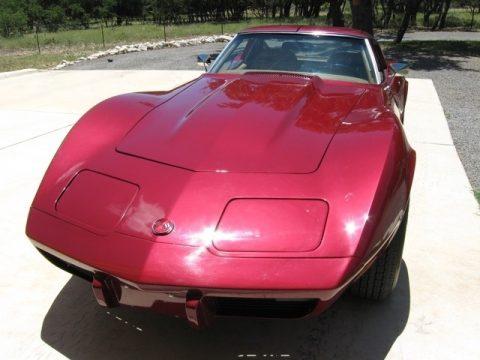 Dark Red Chevrolet Corvette Stingray Coupe.  Click to enlarge.
