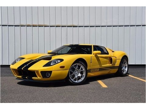 Screaming Yellow Ford GT .  Click to enlarge.