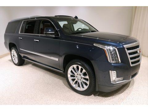 Dark Adriatic Blue Metallic Cadillac Escalade Premium Luxury 4WD.  Click to enlarge.