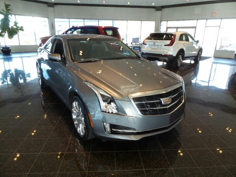 Satin Steel Metallic Cadillac ATS Luxury AWD.  Click to enlarge.