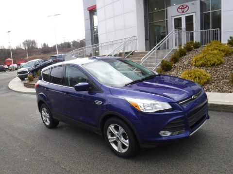 Deep Impact Blue Metallic Ford Escape SE 1.6L EcoBoost 4WD.  Click to enlarge.