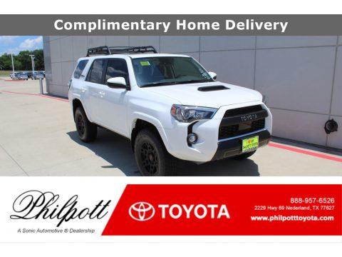 Super White Toyota 4Runner TRD Pro 4x4.  Click to enlarge.