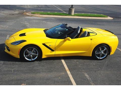 Velocity Yellow Tintcoat Chevrolet Corvette Stingray Convertible.  Click to enlarge.