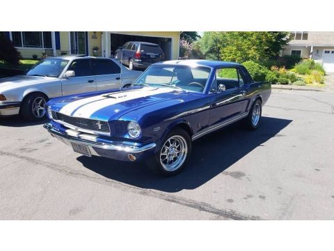Sonic Blue Ford Mustang Coupe.  Click to enlarge.