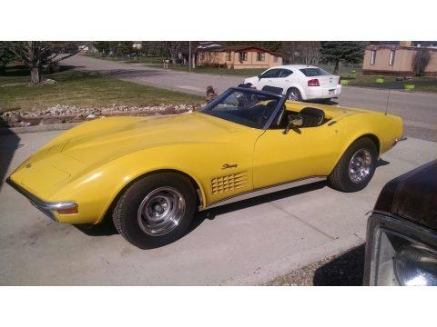 Sunflower Yellow Chevrolet Corvette Stingray Convertible.  Click to enlarge.