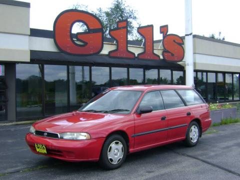 Rio Red Subaru Legacy L Wagon Right Hand Drive.  Click to enlarge.