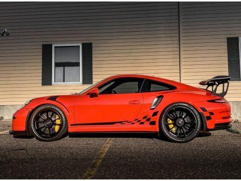 Lava Orange Porsche 911 GT3 RS.  Click to enlarge.