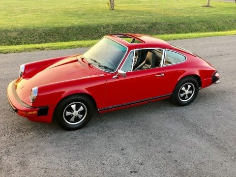 Guardsman Red Porsche 912 E.  Click to enlarge.