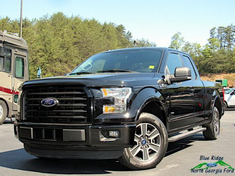 Shadow Black Ford F150 XLT SuperCab.  Click to enlarge.